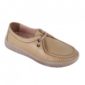 Pantofi din piele naturală cod 20121 Bej