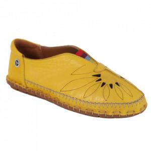 Pantofi din piele naturală Cod 204 Yellow