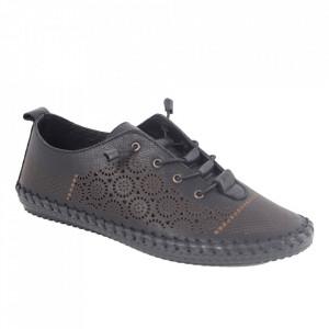 Pantofi din piele naturală cod 30110 Siyah