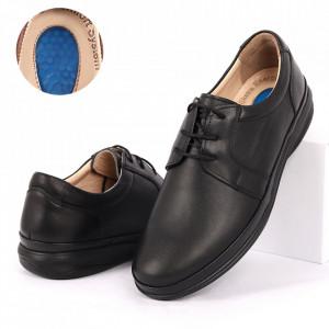 Pantofi din piele naturală cod 3300-1 Negri