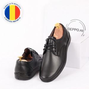 Pantofi din piele naturală cod 85499 Black
