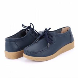 Pantofi din piele naturală Cod A5665 Navy