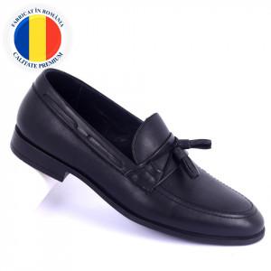 Pantofi din piele naturală Conor Black
