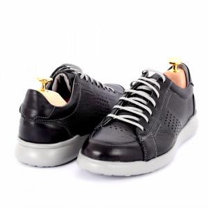 Pantofi din piele naturală Devin Negru