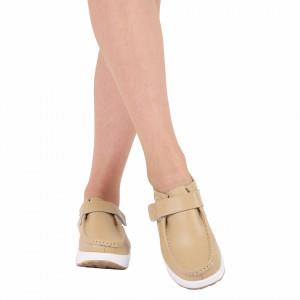 Pantofi din piele naturală Jennifer Beige - Pantofii îți transformă limbajul corpului și atitudinea. Te înalță fizic și psihic! Pantofi pentru dame din piele naturală Talpă ortopedică flexibilă și un calapod comod - Deppo.ro