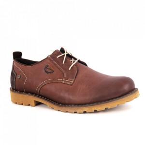 Pantofi din piele naturală pentru bărbați cod 02-00 Brown