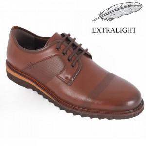 Pantofi din piele naturală pentru bărbați cod 10255 Taba