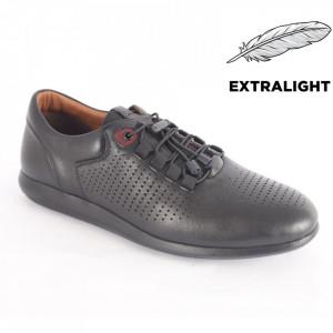 Pantofi din piele naturală pentru bărbați cod 1921 Black