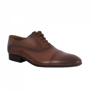 Pantofi din piele naturală pentru bărbați cod 2783 Maro