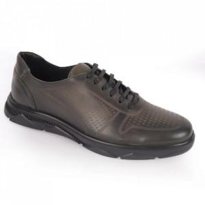 Pantofi din piele naturală pentru bărbați cod 323 Verde