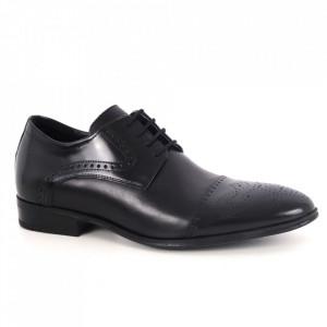 Pantofi din piele naturală pentru bărbați cod 529 Black