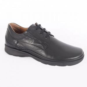 Pantofi din piele naturală pentru bărbați cod 535 Negru