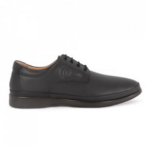 Pantofi din piele naturală pentru bărbați cod C8262 Black