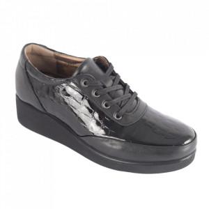 Pantofi din piele naturală pentru dame cod 006 Black
