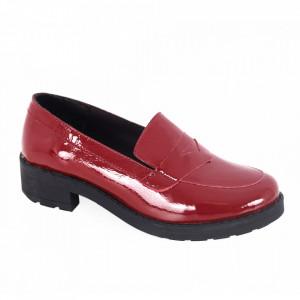 Pantofi din piele naturală pentru dame cod 316 Vișiniu