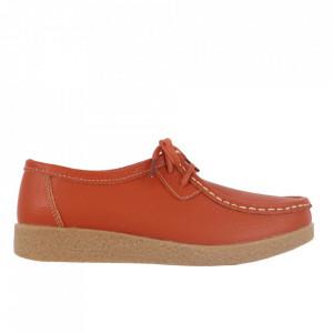 Pantofi din piele naturală pentru dame cod 8517 Orange
