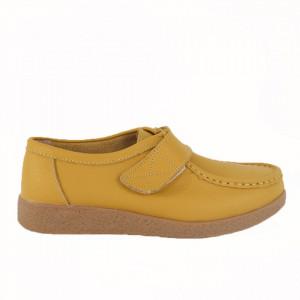 Pantofi din piele naturală pentru dame cod 8518 Yellow