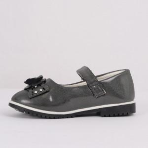 Pantofi pentru fete cod CP67 Gri - Pantofi pentru fete cu un design lejer ceea ce ii face foarte comozi la purtare - Deppo.ro