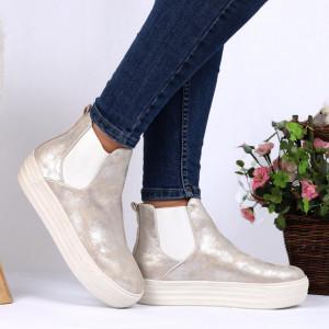 Pantofi Sport Cod Alexandria 693 - Pantofi sport din piele ecologică cu platformă  Foarte comfortabili - Deppo.ro