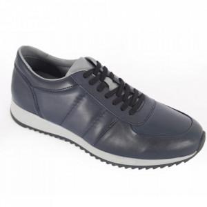 Pantofi sport din piele naturală pentru bărbați cod 9401 Laci Gri