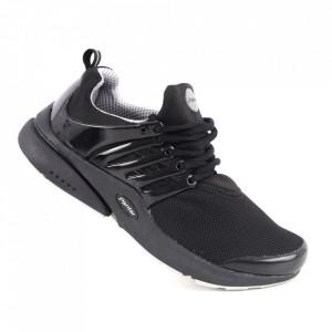 Pantofi sport pentru bărbați cod A68-2 Black/Silver Grey
