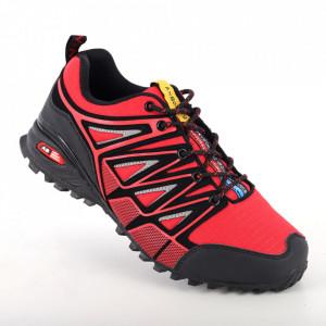 Pantofi sport pentru bărbați cod ARW0212-21 Black/Red