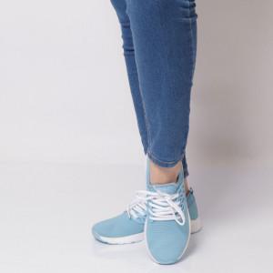 Pantofi Sport pentru dame Cod B8143 Blue - Pantofi sport pentru dame dinpanză,talpă din spumă  Foarte ușori și comozi  Închidere prin șiret. - Deppo.ro