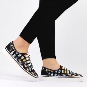 Pantofi sport pentru dame Cod TNH2209 Black - Pantofi sport pentru dame,din material textil Foarte ușori și comozi Închidere prin șiret. - Deppo.ro