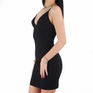 Rochie Annalise Black - Rochie elegantă, mulată cu spatele gol, completează-ți ținuta și strălucește la următoarea petrecere. - Deppo.ro