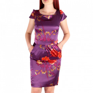Rochie de vară cod FLRR4 Mov