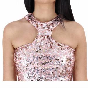 Rochie Erika Pink - Rochie scurtă cu paiete roz, simte-te atrăgătoare purtând această rochie și atrage toate privirile la urmatoarea petrecere. - Deppo.ro