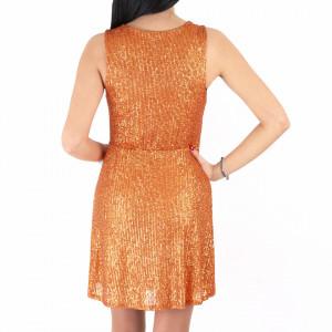 Rochie Fely Orange - Rochie scurtă cu paiete portocalie simte-te atrăgătoare si misterioasă purtând această rochie și atrage toate privirile la urmatoarea petrecere. - Deppo.ro