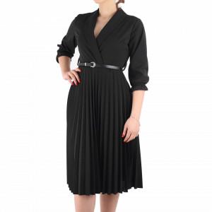 Rochie Plisată Neagră