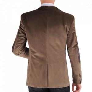 Sacou SC-18 Bej - Ideal pentru o ținută casual de zi care poate fii purtat atât cu cămașă cât și cu helancă Compoziție: 85% bumbac, 15% polyester - Deppo.ro