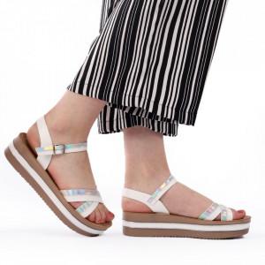 Sandale cu platformă cod Z25 White