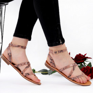 Sandale cu talpă joasă cod M34 Pink