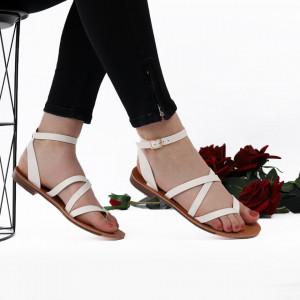 Sandale cu talpă joasă cod M34 White