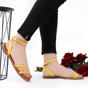 Sandale cu talpă joasă cod M35 Yellow