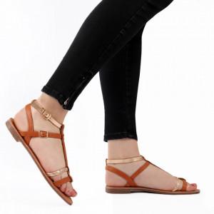 Sandale cu talpă joasă cod M36 Camel