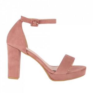 Sandale din piele ecologică cod M17 Pink