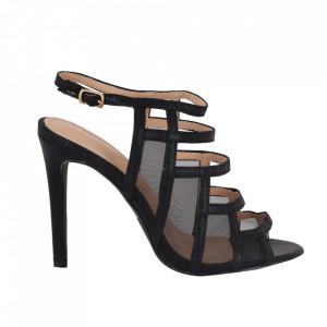 Sandale din piele ecologică cod OD0239 Black