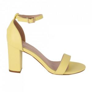 Sandale din piele ecologică cod OD350 Yellow