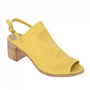 Sandale din piele naturală cod 051 Yellow
