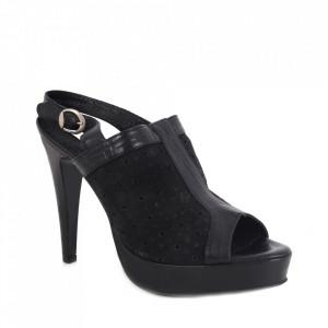 Sandale din piele naturală cod 1-1017 Black