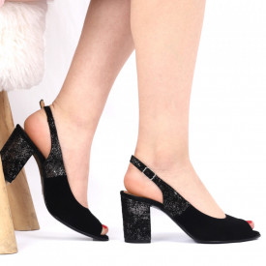 Sandale din piele naturală cod 1072 Black