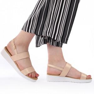 Sandale pentru dame cod 63135 Gold