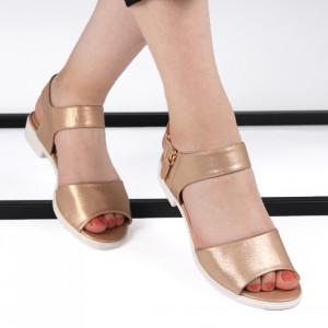 Sandale pentru dame cod B-57 Champagne