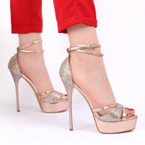 Sandale pentru dame cod BF92480 Champagne