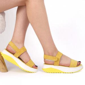 Sandale pentru dame cod LTS0273-H26 Yellow