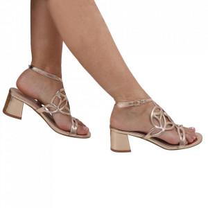 Sandale pentru dame cod OD0240 Champagne